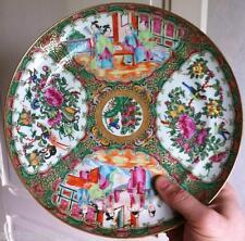 Belle Assiette Porcelaine Chine CANTON XIXéme (1)