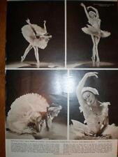 Photo article ballerina Alicia Markova Dying Swan 1956