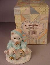 Enesco Calico Kittens figurine Ewe Warm My Heart MIB #628182 Cats NOS 1993 #2