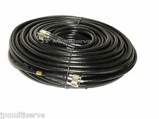 100 ft UHF RG8X Coax Cable with molded PL259 ends