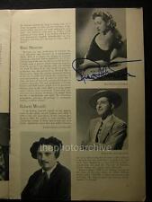 1952 Rise Stevens Autographed Signed Opera News Magazine 470B