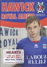 12 JUL 2013 HAWICK ROYAL ALBERT v HEART OF MIDLOTHIAN (HEARTS)