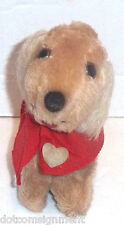 Russ Berrie SNAPS Puppy Dog Plush w/ Red Cape & Heart - Nut Shells Vintage 1978