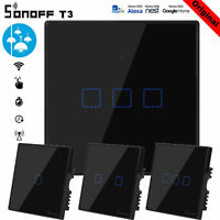 Sonoff TX T3 Smart Home WiFi UK Panel Touch Switch Wall Remote Control Light UK