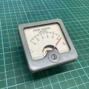 Vintage Ferrograph VU / Signal Meter /  Level Meter - 1 Piece