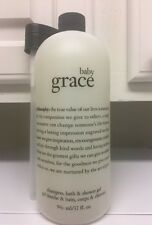 PHILOSOPHY Huge Size Baby Grace Shampoo Bath Shower Gel Pump 32oz -DISCONTINUED