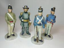 Vintage 4 Lefton Us Military Figurines 1871 Major General 1813 Infantry + 2 more