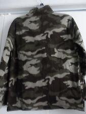 NWOT Cole Daniel Fleece 3/4 Zip Front Camo Jacket Coat Size Large Medium