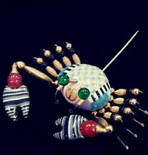 Cynthia Chuang hand crafted Crab Enameled Pin part of the Jewelry 10 Collection