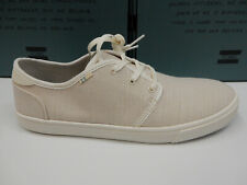 Toms Mens Carlo Sneakers Natural Birch Heritage Canvas Size 8.5