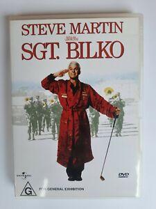 Sgt Bilko DVD - Steve Martin - Very Good Condition - Free Post - Region: 2&4