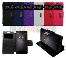 Funda soporte libro ventana Sony Xperia L2 + protector cristal opcional