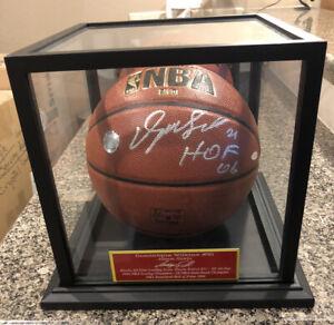 Dominique Wilkins Atlanta Hawks Signed Basketball W/case & Nameplate Steiner COA