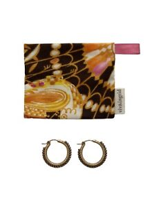 Viv & Ingrid 14k Yellow Gold Filled Signature Wrap Hoops Gold & Silver