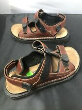 Men's Marks and Spencers Brown Leather Walking Hiking Sandals SIZE 8 GA1435
