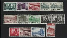 Germany-Saar 1952-1955 Sc 232-245 Building & Bridges complete set. Mnh *