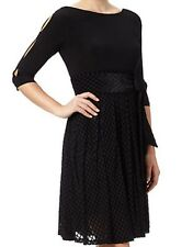 bf7f48189c61 NWT Adrianna Papell Black Fit And Flare Cold Shoulder Party Dress Sz 14  160
