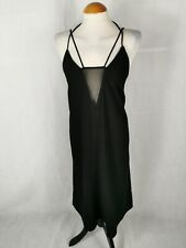 Ladies Dress Size 16 H&M Black Mesh Detail Cross Straps Party Evening