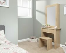 New Contemporary Hobson Oak Dressing Table and Stool Set