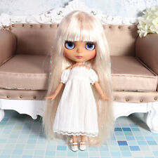 """12"""" Blythe factory Nude Doll Golden Mix Flash color Hair Jointed Body Matte Face"""