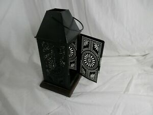 Punched Pierced Tin Square Candle Lantern Candle Holder