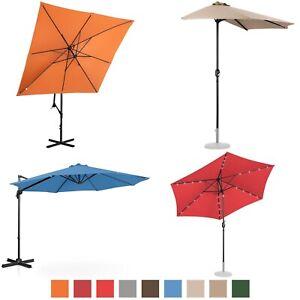 Parasol De Terrasse Jardin Déporté Droit Demi Tailles Couleurs Et Modèles Variés
