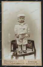 Stettin-Szczecin-Polen-1928-Seltene CDV-Cute Little Boy-Pommern-Samson&co