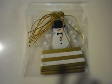 New ! 8 Pk Holiday Premium Gift Tag Snowman