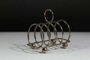 Antique Sterling Silver Toast Rack Walker and Hall 1932  (79g) AC6