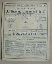 PARFUMERIE ETOILE Saint Etienne Terrenoire catalogue illustré 1933