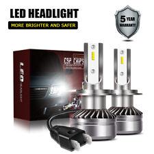 2× H7 White CSP High Lights LED Car Headlight Kit DOT Bulb 60W 12000LM 6000K LXK