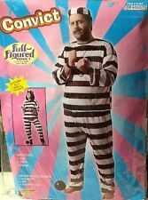 """HALLOWEEN COSTUME """"Convict"""" PLUS Full-Figured MAN/ WOMAN Unisex FITS UP TO 48"""