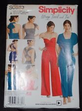 Smplicity Wrap, Twist and Tie sewing pattern number SO 883 size A- XXS-XXL