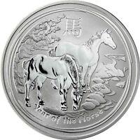 Australien 1 Dollar 2014 Jahr des Pferdes Lunar II Silbermünze Anlagemünze