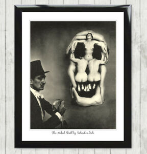 Optical Illusion Naked Sexy Women Skull by Salvador Dali Poster Art Print 110