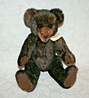 "Vintage Clean 12"" Mohair Teddy Bear - ""Seamus"" #674 Hand Crafted by Cindy Kasten"