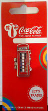 Londres 2012 Jeux Olympiques Coca Cola Welcome to the games pin France Telephone Box