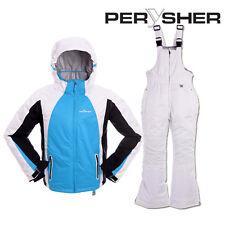 PERYSHER Extra Warm Kids Snowboard Ski Jacket and Pants - Sky-Blue Children Suit