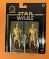 Star Wars Commemorative Edition Gold Obi-Wan Kenobi & Anakin Skywalker Figures