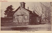 Postcard School Granby CT