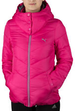 PUMA WOMEN'S HOODED LIGHT WINTER ATUMN JACKET COAT INSULATED BLACK or PINK XS S