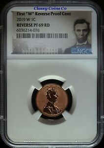 """2019 W """"First W"""" NGC Reverse Proof 69 Lincoln Cent ☆☆ Great Set Builder ☆☆"""