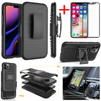For Apple iPhone 11 Pro Xs Max Xr Shockproof Armor Belt Clip Holster Case Cover