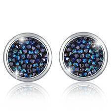 GLITZY STUD EARRINGS WG SILVER NIGHT FT CRYSTALS FROM SWAROVSKI KCE3002WBB