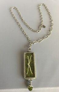 "Jewel Kade ""K"" Initial Necklace"