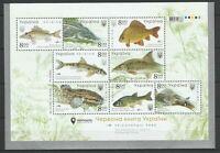 Ukraine 2019 Fauna Fish MNH sheet