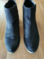 Girls / Ladies Marco Tozzi Black Ankle Boots. Size UK 7 EU 40
