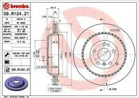 Disc Brake Rotor-Premium UV Coated OE Equivalent Rotor Rear Brembo 09.R124.21