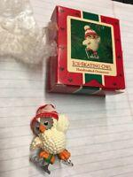 vintage Hallmark Keepsake Ornament Ice Skating Owl 1995 with box