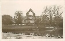 Real photo; Bolton abbey with stepping stones; Stationary co.